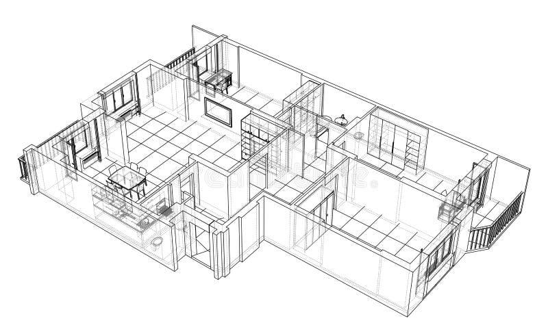 Bosquejo interior Vector libre illustration