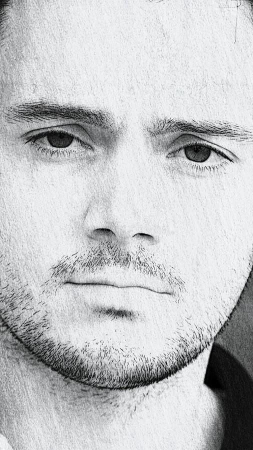 Bosquejo masculino hermoso fotos de archivo libres de regalías