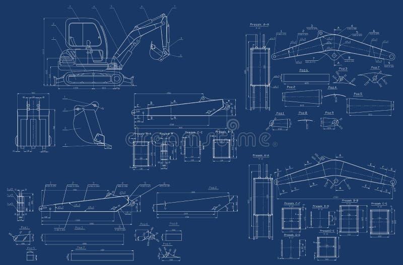 Bosquejo mecánico ilustración del vector