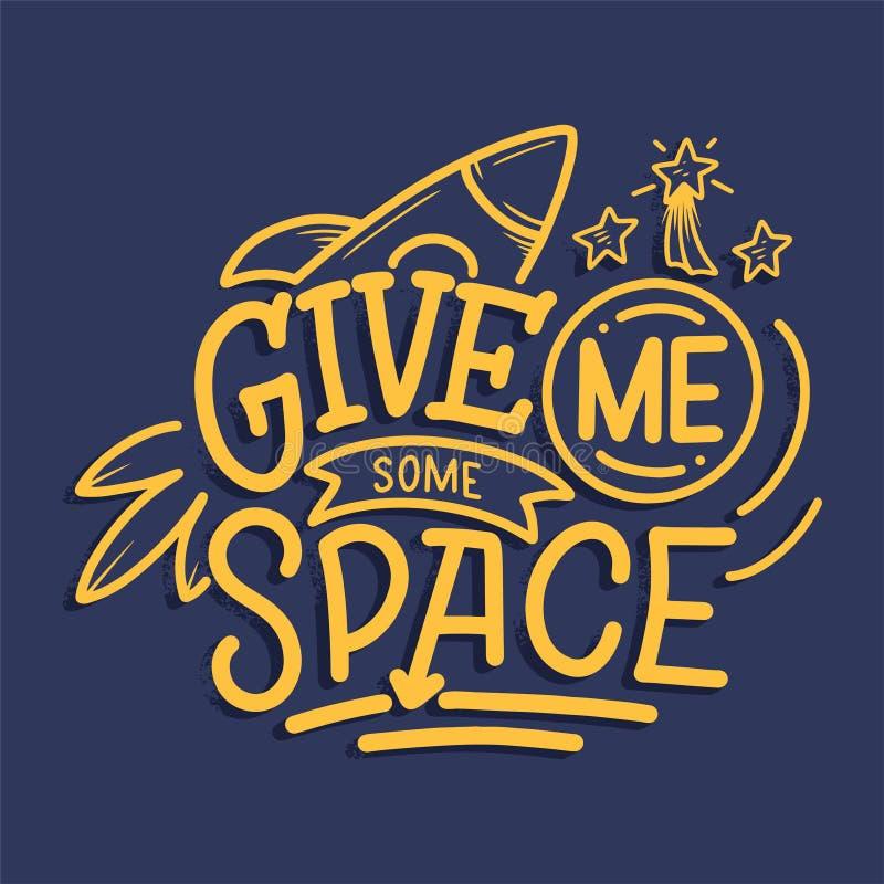 Bosquejo que pone letras a cita sobre el espacio para el dise?o y la impresi?n de la materia textil Concepto de moda moderno de l libre illustration