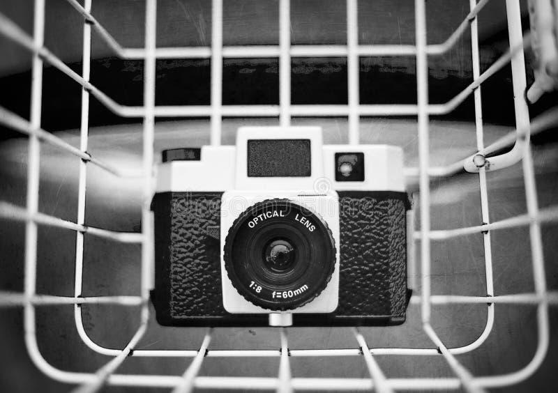 Bosquejo retro de la cámara imagen de archivo libre de regalías