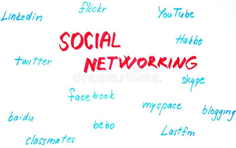 Bosquejo social de la red stock de ilustración