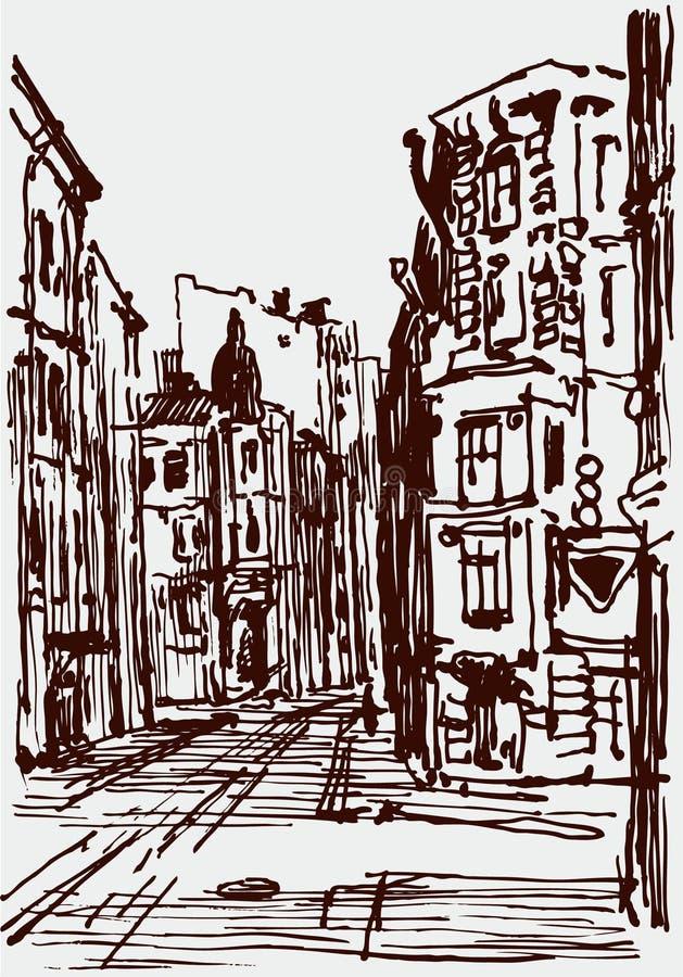 Bosquejo urbano libre illustration