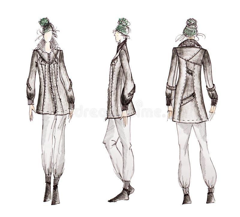 Bosquejos profesionales de la moda imagen de archivo