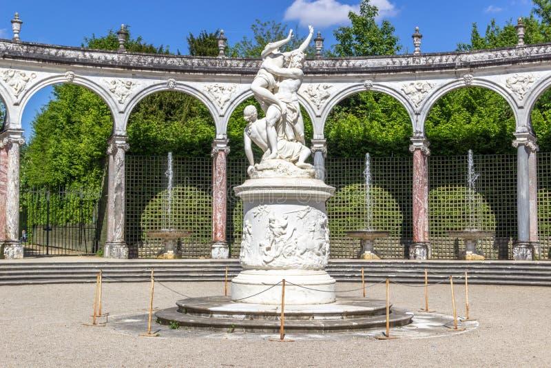 Bosquet kolumnada, Versailles, Francja obrazy royalty free