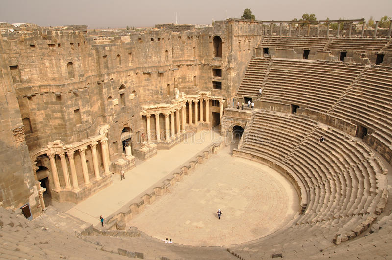 Bosra amphitheater - Syria royalty free stock images
