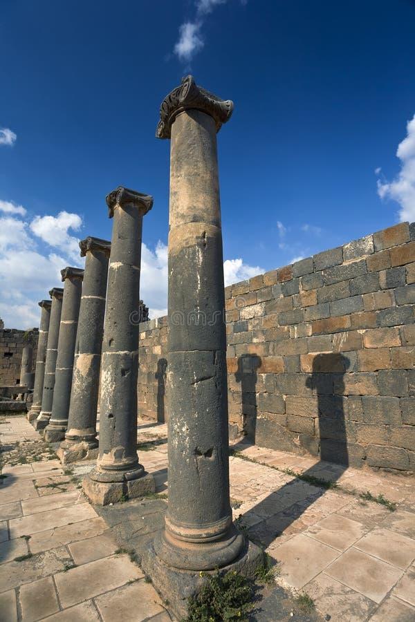 Bosra - os banhos romanos imagem de stock royalty free