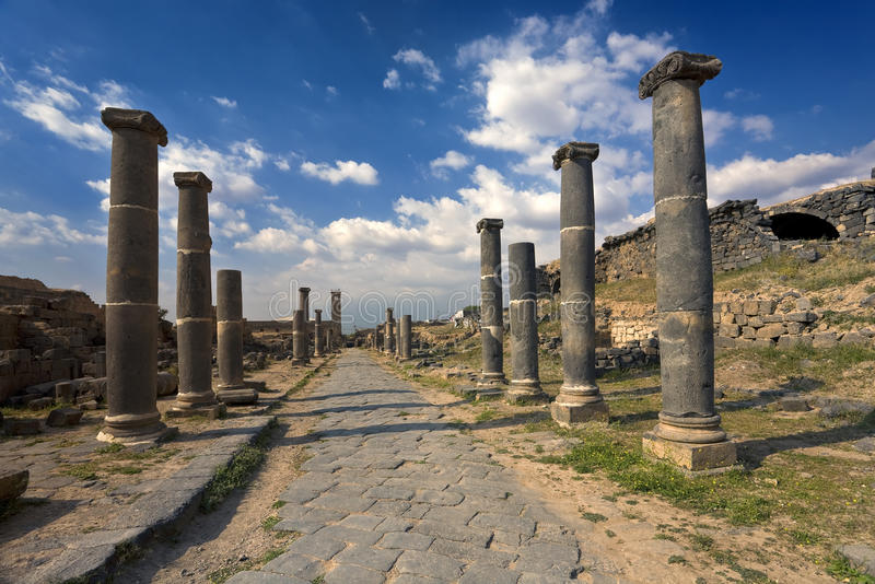 Bosra - os banhos romanos fotografia de stock