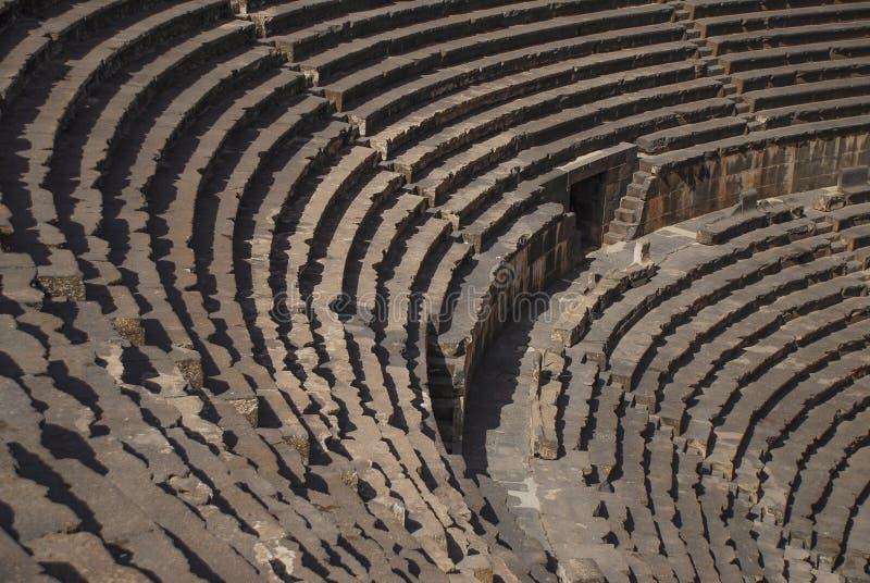 Bosra, Siria - 22 de noviembre de 2005: Detalle del Teatro Romano de las Bellas Artes de Bosra imagenes de archivo