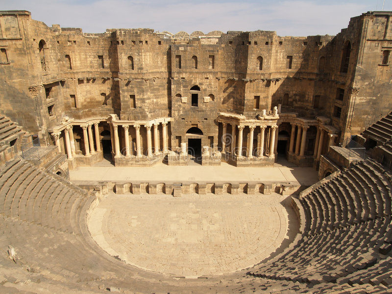 Bosra Theatre stock photo