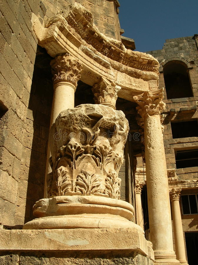 bosrasyria teater royaltyfria foton