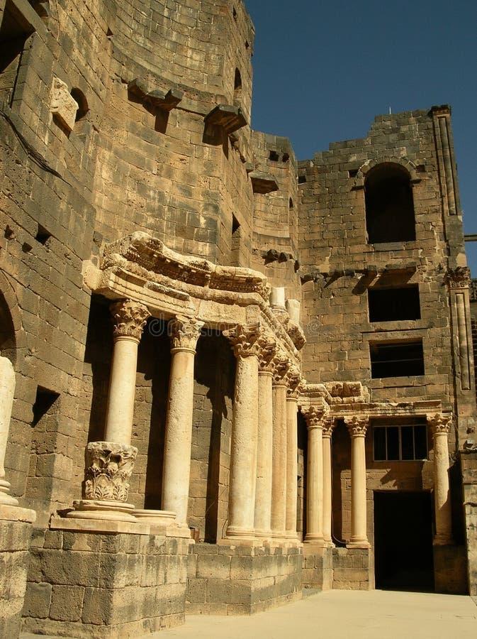 bosrasyria teater royaltyfria bilder