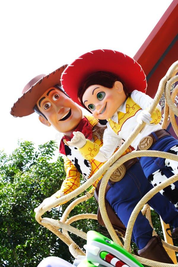 Bosrijk en Jessie in Hongkong Disneyland stock afbeeldingen