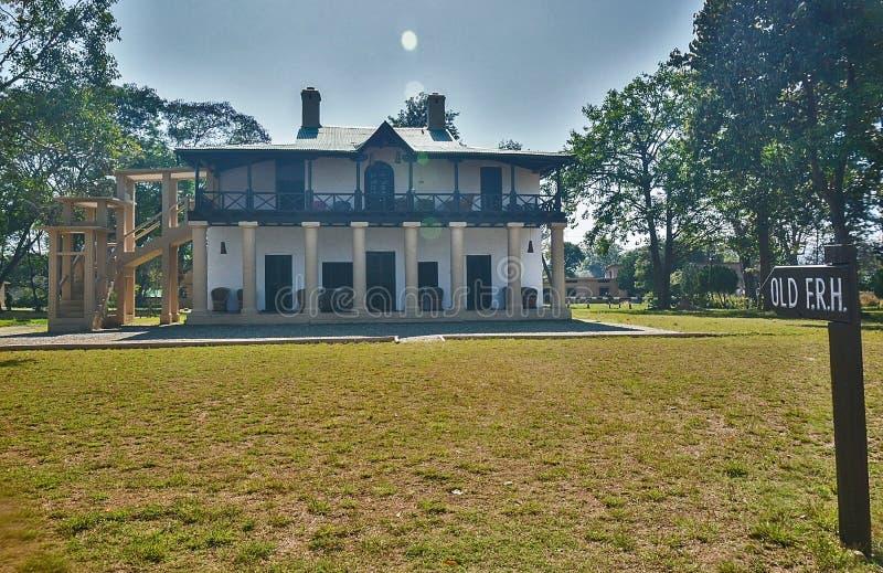 Bosrust huis royalty-vrije stock foto