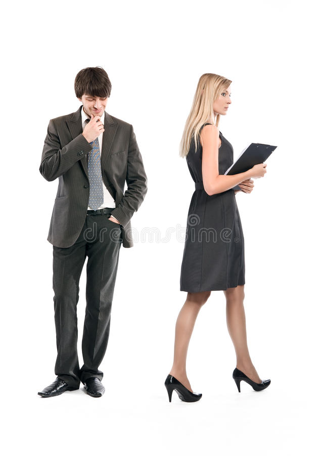 Download Boss Is Accosting The Secretary Stock Photos - Image: 9981403
