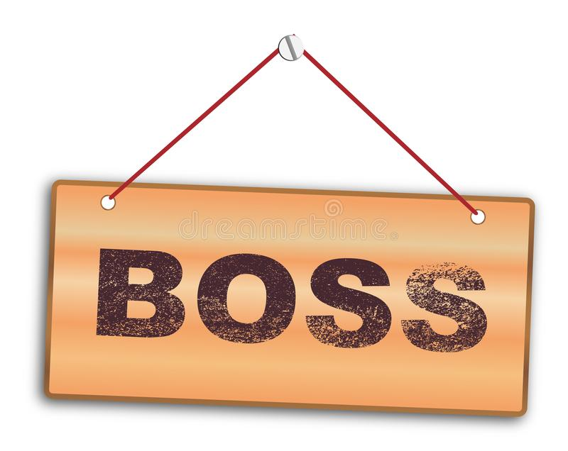 Boss aislado Sign stock de ilustración
