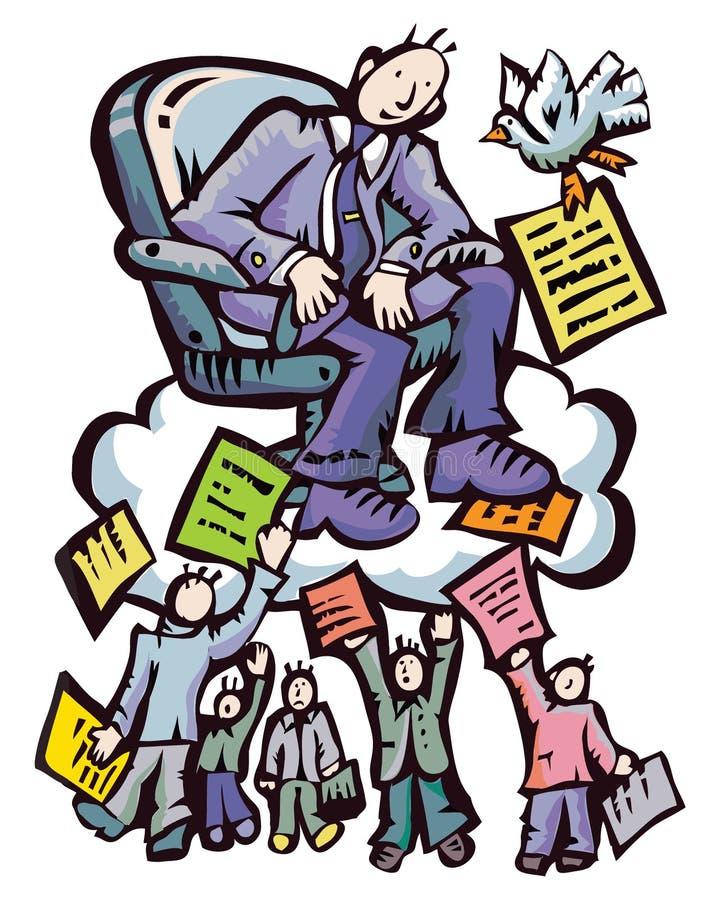 Boss&documents stock de ilustración