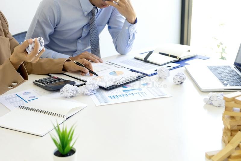 Boss angry and fell bad shouting at stock photo