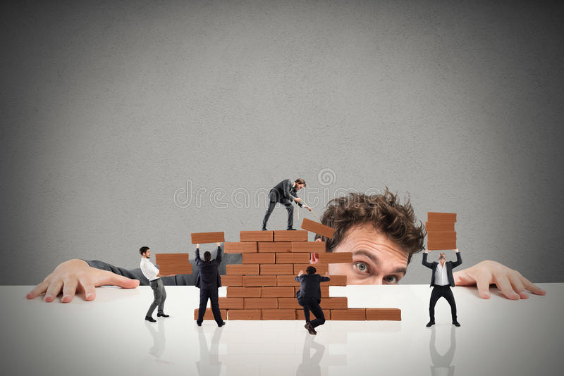 Boss builds a business team stock image