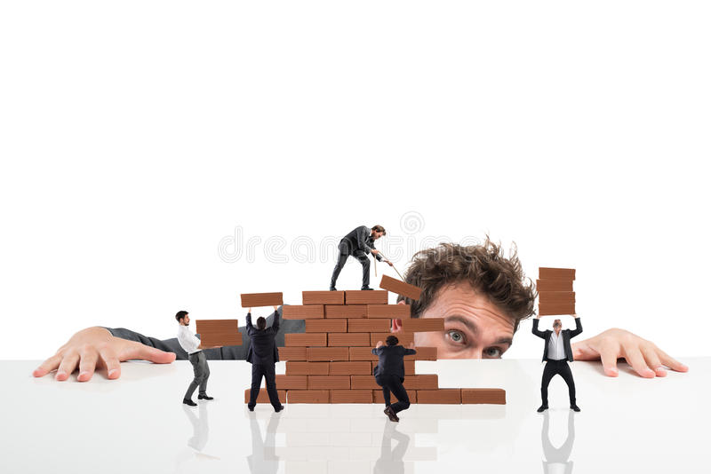 Boss builds a business team royalty free stock images