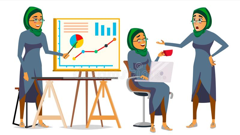Boss Character Vector. Bearded. Environment Process In Office. Various Action. Cartoon Business Illustration royalty free illustration