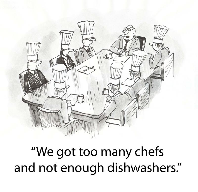 Boss with chefs stock illustration