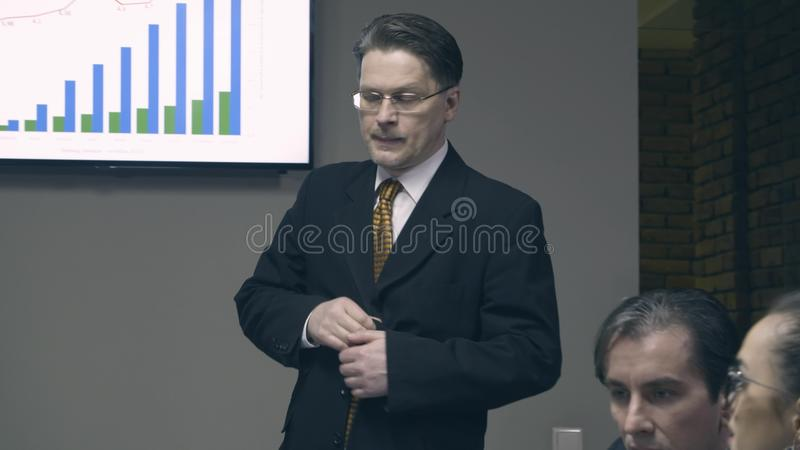 Boss comes and greet colleagues in meeting room stock footage boss comes and greet colleagues in meeting room stock footage video of partners colleagues 89289414 m4hsunfo