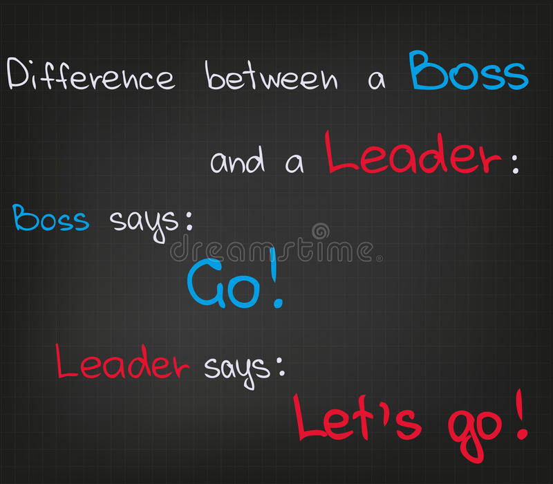 Boss contra líder libre illustration