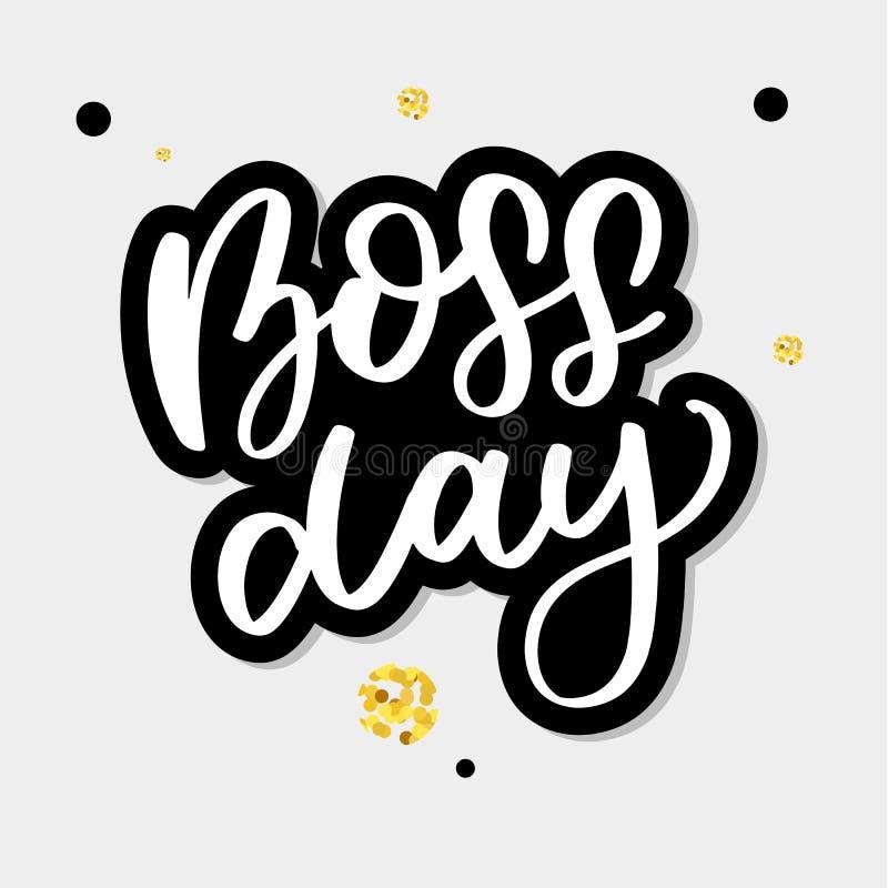 Boss day vintage lettering background vector calligraphy. Boss day vintage lettering background, happy, card, employee, work, art, banner, business, celebration vector illustration