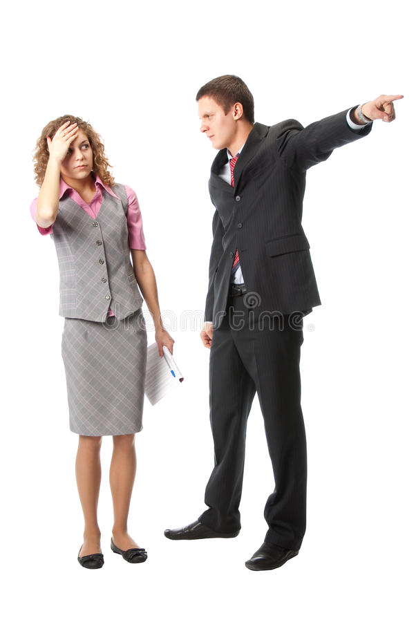 Download Boss dismisses employee stock image. Image of fire, business - 11998273