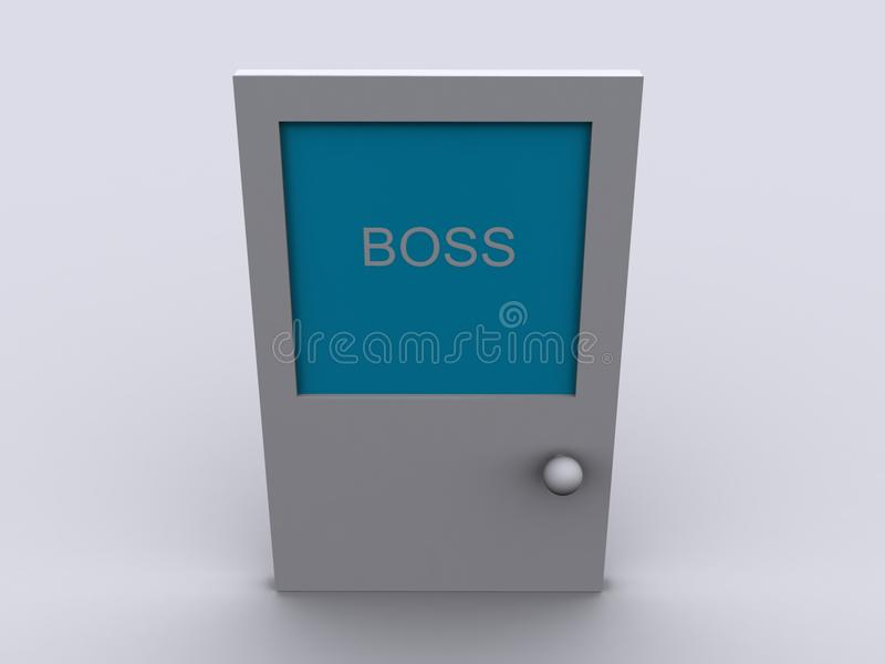 Boss door stock illustration