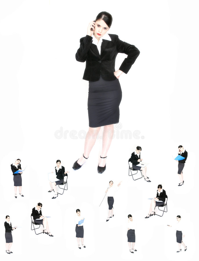 The boss and the employees royalty free stock photography