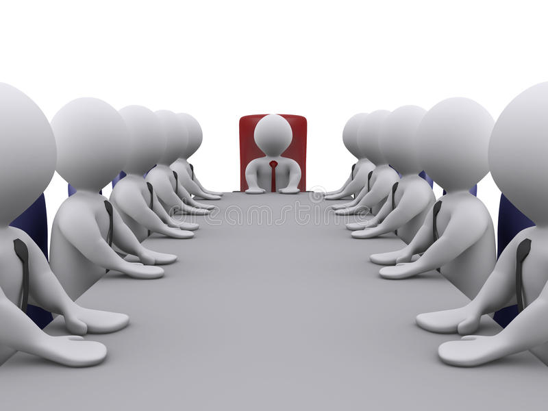 Boss And Employees In A Meeting Stock Image