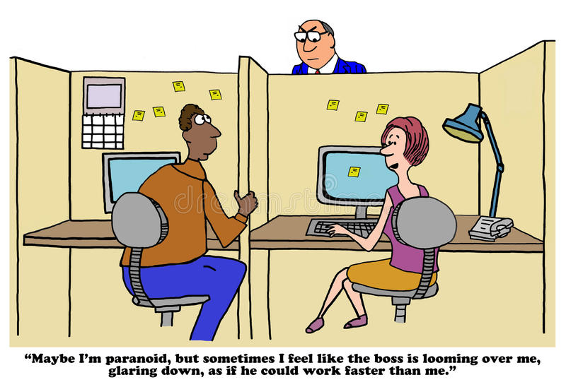 Boss glaring libre illustration