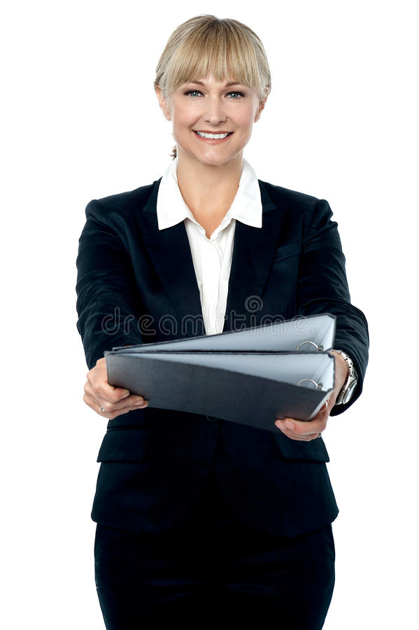 Download Boss, Here Are The Documents You Asked For. Stock Photo - Image: 28251242
