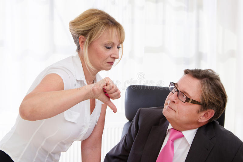 Download Boss And His Secretary At Desk Stock Photo - Image: 36261668