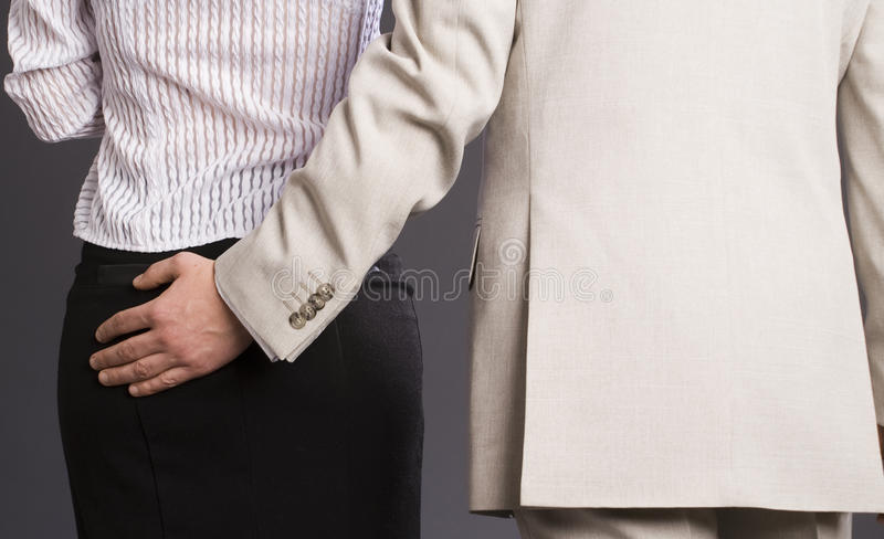 Download Boss hugs his subordinate stock photo. Image of buttocks - 12122530