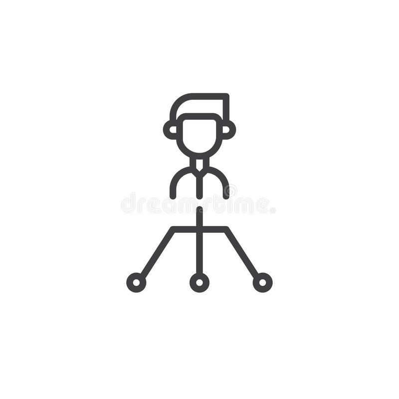Boss line icon vector illustration