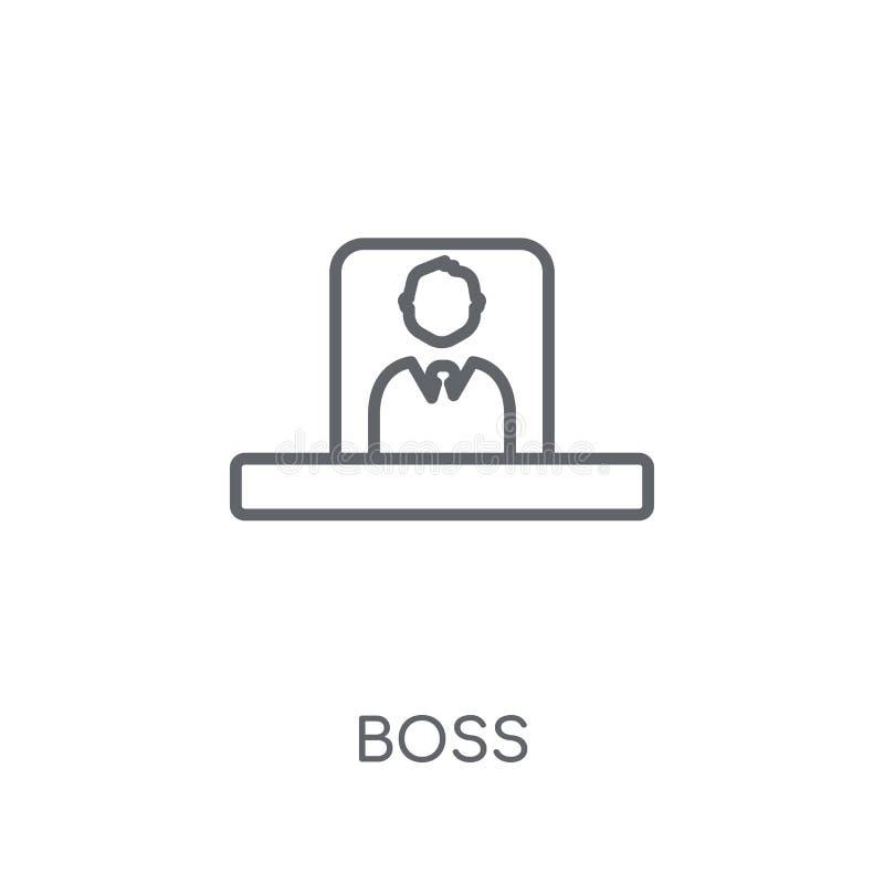 Boss linear icon. Modern outline Boss logo concept on white back royalty free illustration