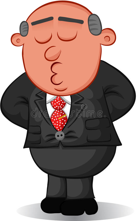 Download Boss Man Standing And Relaxing Royalty Free Stock Image - Image: 32236126