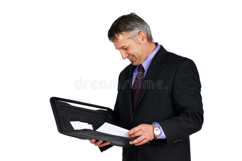 Boss Or Manager Looking At Paperwork Stock Image