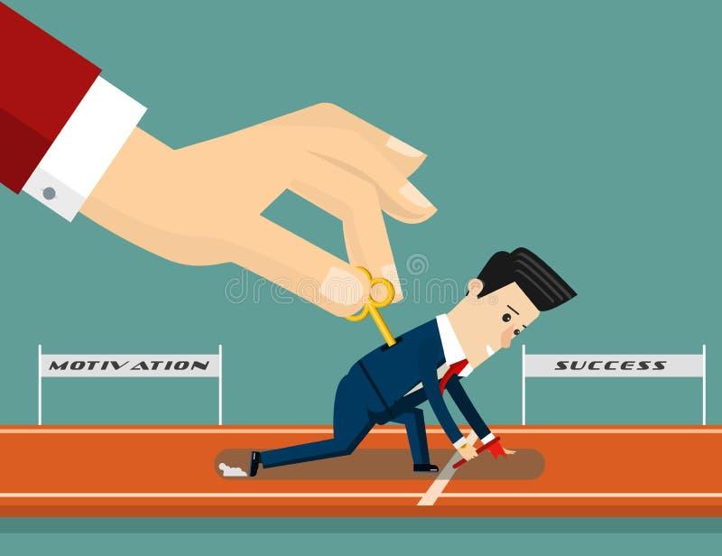 Boss motivates his subordinate. Business concept cartoon illustration. Vector vector illustration