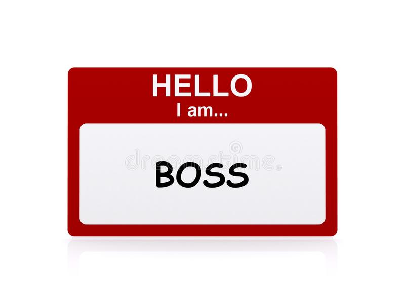 Boss name tag royalty free illustration