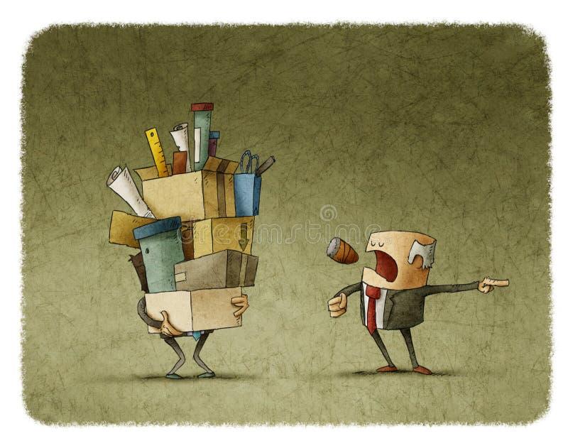 Boss que enciende al empleado libre illustration