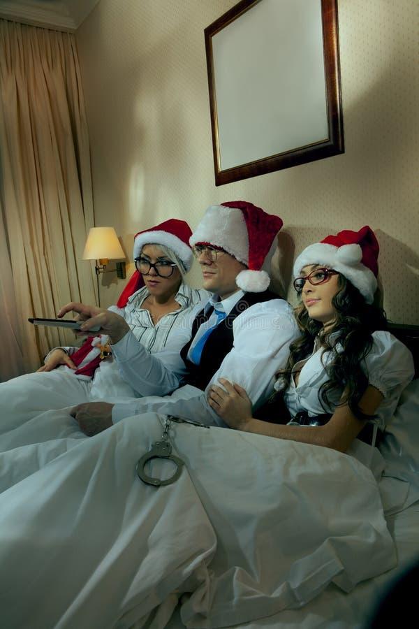 Download Boss With Secretaris On New Year's Night Stock Image - Image: 20899039