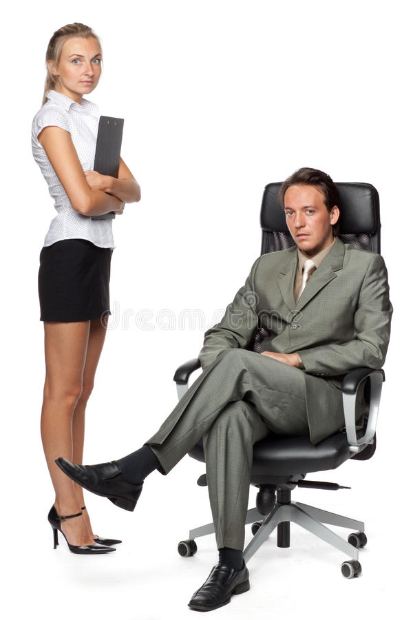 Download Boss and secretary stock photo. Image of adult, business - 10753084