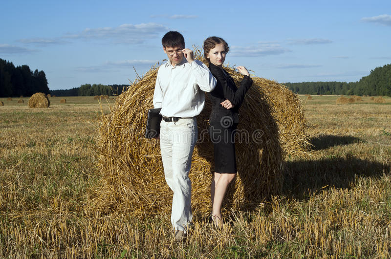 Boss and secretary royalty free stock photos