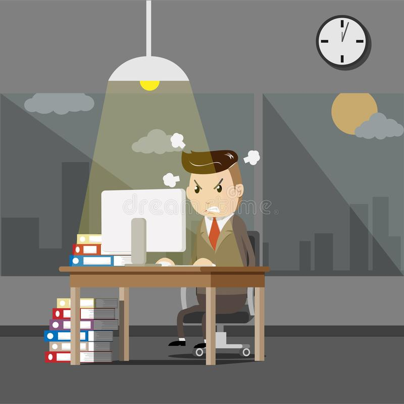 boss serious ανώτερη συνεδρίαση επιχειρηματιών στο γραφείο του με ελεύθερη απεικόνιση δικαιώματος