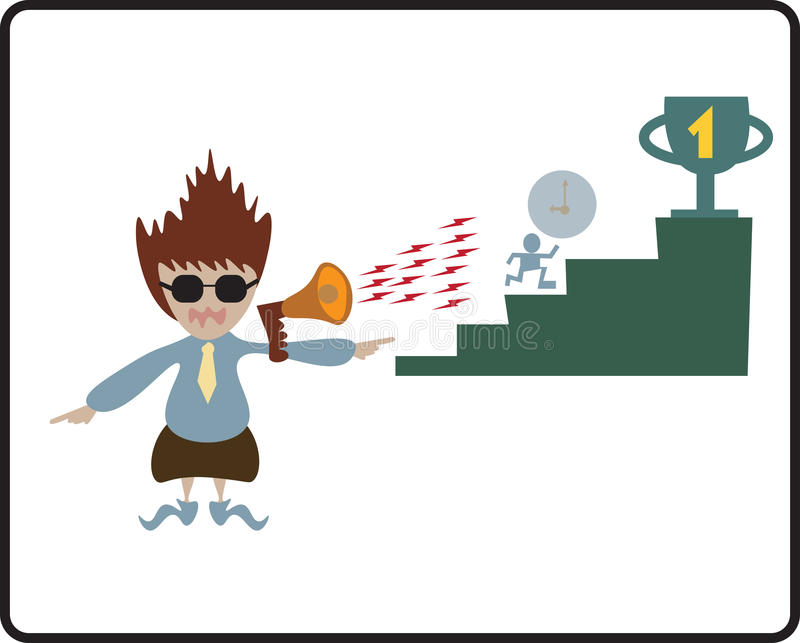 Boss shouting to employee royalty free illustration