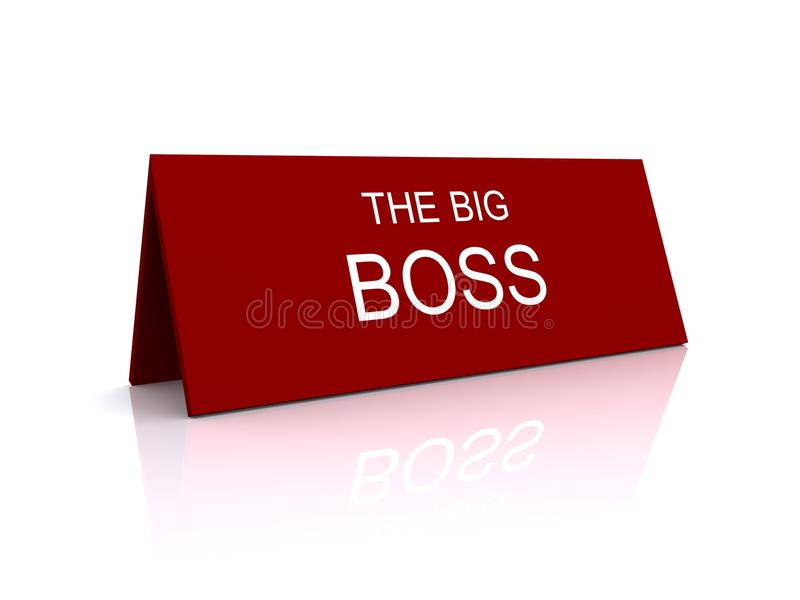 Boss sign vector illustration